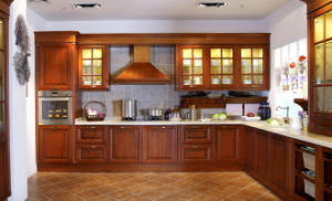China Island Style American Kitchen Cabinet Solid Wood Modular Design Zq 013 Furniture