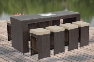 Wicker Furniture Bar Set (PRF-7106)