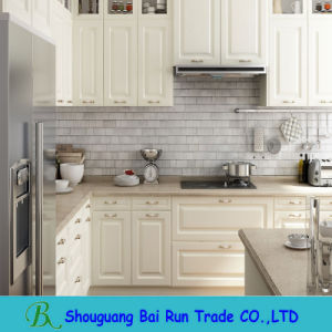 Kitchen Furniture Melamine Kitchen Cabinet with PVC Cabinet Door pictures & photos