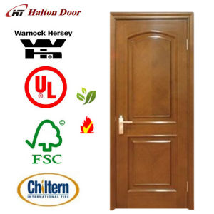 Fire Door/Wooden Fire Proof Doors with Britain BS Standard Certified/Wood Fire Door