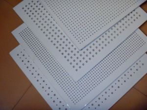 Perforated PVC Gypsum Ceiling Tiles/Sound Absorb Ceiling pictures & photos