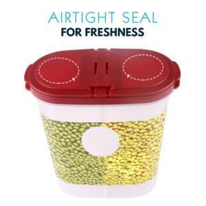 Gtx Dual-Chamber Snack Cereal Container Storage Space Saving Design with Airtight Lid Keeping Food Fresh Container pictures & photos