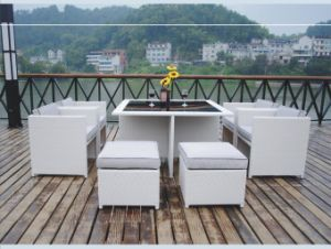 Classic PE Rattan Sofa / Rattan Outdoor Furniture Jk-Dsa-006A