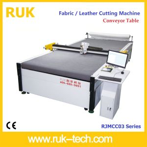 Fabric Cutting Machine with Conveyor Table