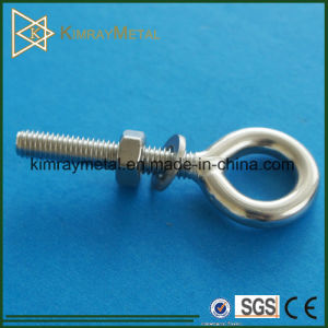 Stainless Steel Plain Eye Bolt with Nut and Washer