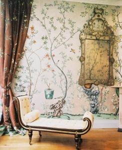 China Hand Painted Wallpaper