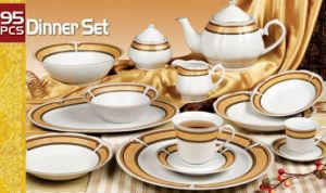 Ceramic 95PCS Dinner Set (HJ005) pictures & photos
