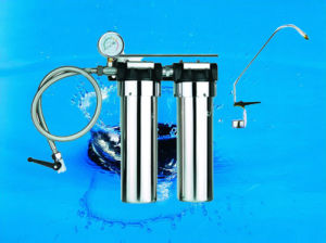 2stages Undersink Water Purifier+Tap Connector+Water Pressure Meter+Tap Faucet