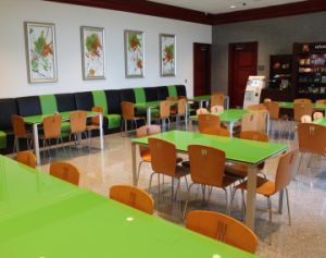 Restaurant Furniture Set Glass Dining Table and Chair (FOH-DT2)