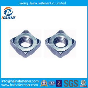 DIN928 Zinc Plated Carbon Steel Square Weld Nut pictures & photos