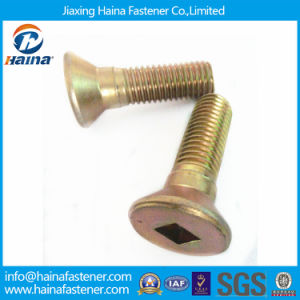 Color Zinc Plated or Brass Square Drive Flat Head Screw pictures & photos