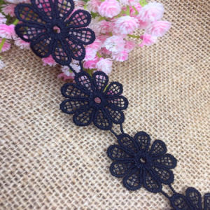 High Quality Sunflower Water Soluble Trim Embroidery Lace