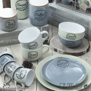 Hot Selling Silk Screen Logo 16PCS Dinnerware Set pictures & photos
