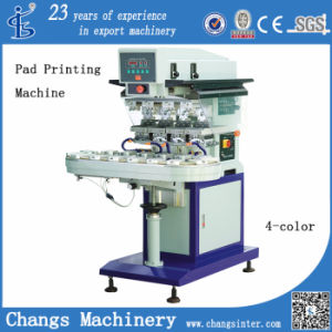Spy 4 Color Automatic Pad Printing Machine with Conveyor pictures & photos