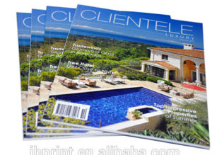Gloss Laminated Cover Luxury Magazine Printing (jhy-027)