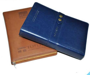 Leather Cover Case Bound Diary and Note Book Printing (jhy-053)