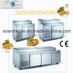 S/S Pizza Workbench Refrigerator with Display Trays pictures & photos