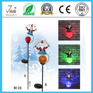 Santa Claus Solar Iron Art and Crafts for Gardeon Decoration pictures & photos