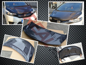 Carbon Fiber Hood for Honda Jazz Fit 2014 pictures & photos