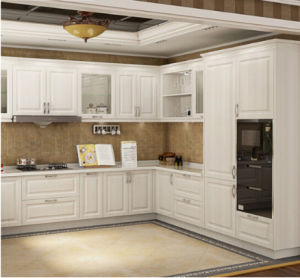 Apartment White Shaker Solid Wood Soft Closing Kitchen Cabinets