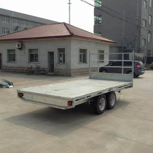 Galvanised Heavy Duty Flat Top Tandem Trailer (SWT-FTT127) pictures & photos