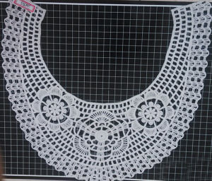 100% Cotton White Color Chemical Lace Collar (T6009)