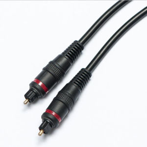 Toslink Plug to Toslink Plug Audio Optical Fiber Cable pictures & photos