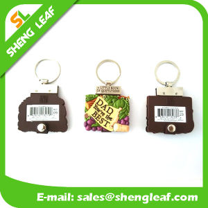 Custom Logo 3D 2D Mini Note Book Keychain