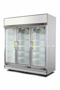 Luxurious 3 Door Display Cooler for Drinks pictures & photos