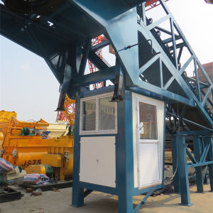 Auto Operation by PLC Yhzs50 Mobile Concrete Batching Mixing Plant pictures & photos