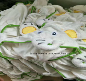 5773f7c86a China Customizing Cotton Long Sleeve Hooded Towel Kids Baby Robes ...
