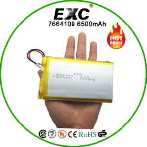 7664109 Li-Po Rechargeable Battery 3.7V Polymer Battery pictures & photos