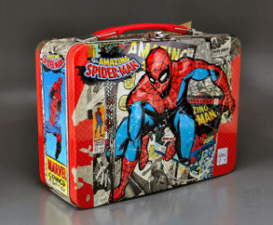 Wholesale Handle Lunch Tin Box with Printing Custom Artworks pictures & photos