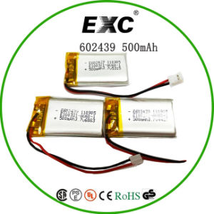 602439 500mAh Lithium Polymer Battery in Shenzhen pictures & photos