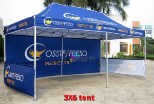 Free Shipping 3X6M(10X20FT) Custom Fullcolor Printed POPup Canopy advertisement Tent