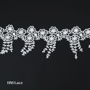f92de37e085c Milky and Polyester Sunflower Leaf Tassel Offwhite Trimming Lace Fabric for  Curtain Wedding Dress