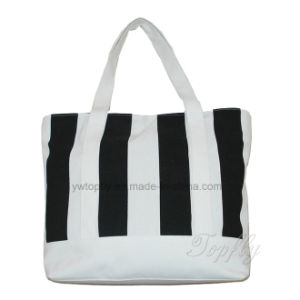 Fashionable Stripe Canvas Leisure Beach Handbags for Ladies pictures & photos