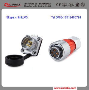 Waterproof Wire Connector Insulated 4 Pin Aviation Connector pictures & photos