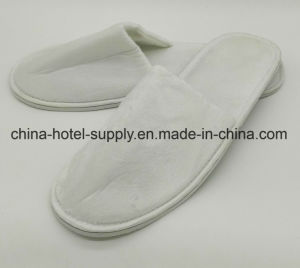 405bb04de China Standard Velour Closed Hotel Slippers - China Hotel Slipper ...