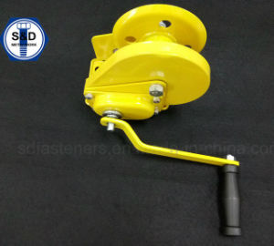 1000kg Boat Trailer Hand Winch Yellow Powder Coated