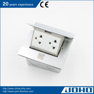 Aluminum Press Type Multimedia Floor Mounted Socket Ground Outlet Box