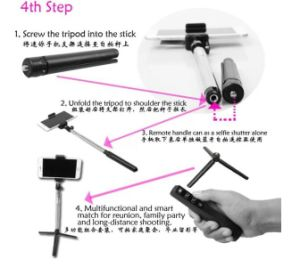 Multifunctional Snap-Together Bluetooth Monopod Suit Rk908 (OM-RK908) pictures & photos