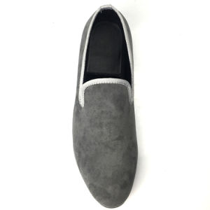 2e882911e65 China Men Shoes Velvet Loafers Navy Smoking Slippers Drop Shipping ...
