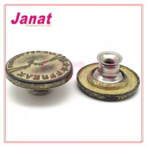 Special Plating Color Zamak Button for Garment