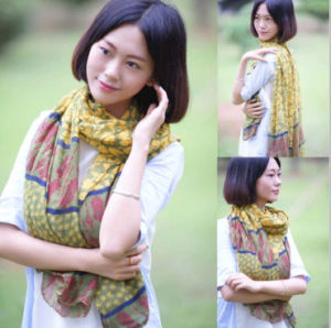 Polyester Voile/Printed Voile/Women Voile Fabric /Hot Selling Fashion Scarf