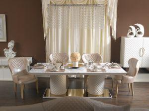 Rectangular White Marble Dining Table (B13)
