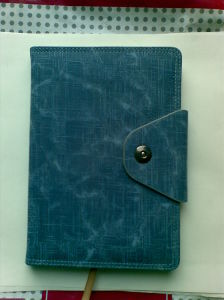 Leather Custom Spiral Bound Excutive Notebook pictures & photos