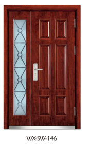 Hotsale Steel Wooden Door (WX-SW-146)
