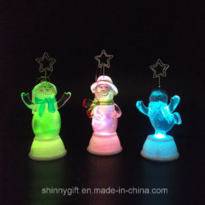 Promotional Gift Color Changing LED Acrylic Chistmas Decoration Light