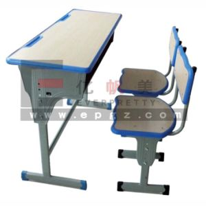 School Furniture Adjustable Double School Desk and Chair pictures & photos